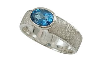 Ring Silber 925 mit Blautopas London Blue facettiert...
